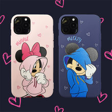 Nieuwe Sweater Mickey & Minnie Tpu Ingericht Case Voor Apple IPhone11Pro Max X Xsmax, soft Phone Cover Voor Iphone Xr 6 6S 7 8 Plus Case(China)