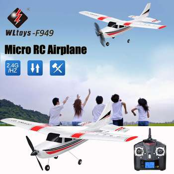 RC Airplanes 2.4Ghz Wltoys F949 RC Airplans 3CH Micro RC Model Plane RTF Left/Right Hand Throllte RC Aircraft Model Toys Gifts