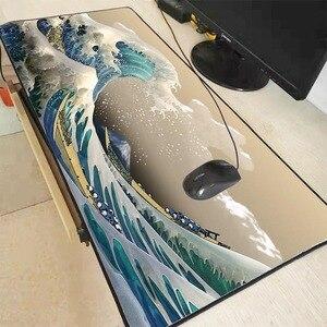 Mairuige Great Wave Off Art резиновый коврик для мыши с закругленными краями большой коврик для мыши Настольный коврик большой коврик для мыши игровой ...