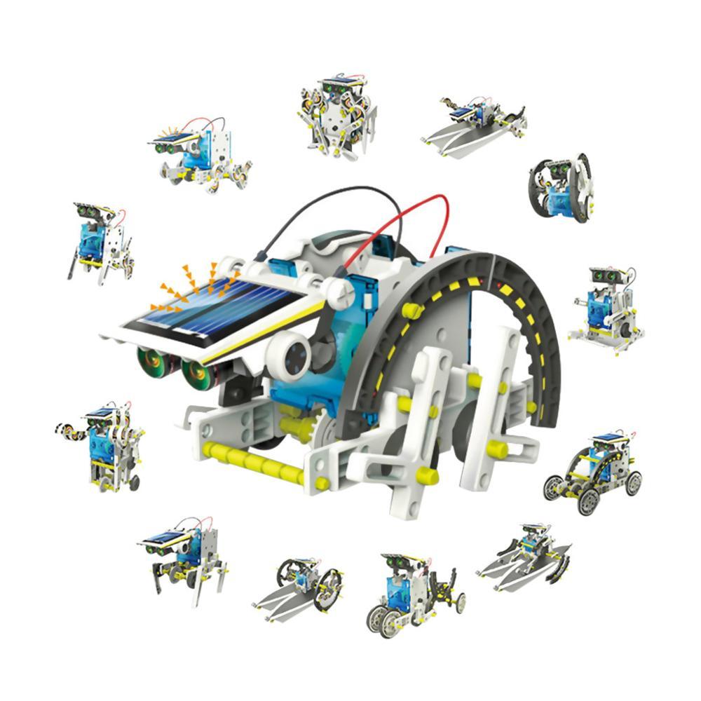 Solar Power Robot Kit DIY Toy Solar Toys Transformation Robot Kit Educational Gift Toys For Children Boy