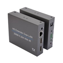 EU Plug 200M HD Extender Over LAN H.264 Splitter Transmitter with IR Retransmission(China)