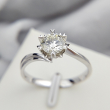 Classic 925 sterling silver 1ct 2ct 3ct Round Brilliant Cut Moissanite Ring Diamond jewelry ring Engagement Anniversary Ring
