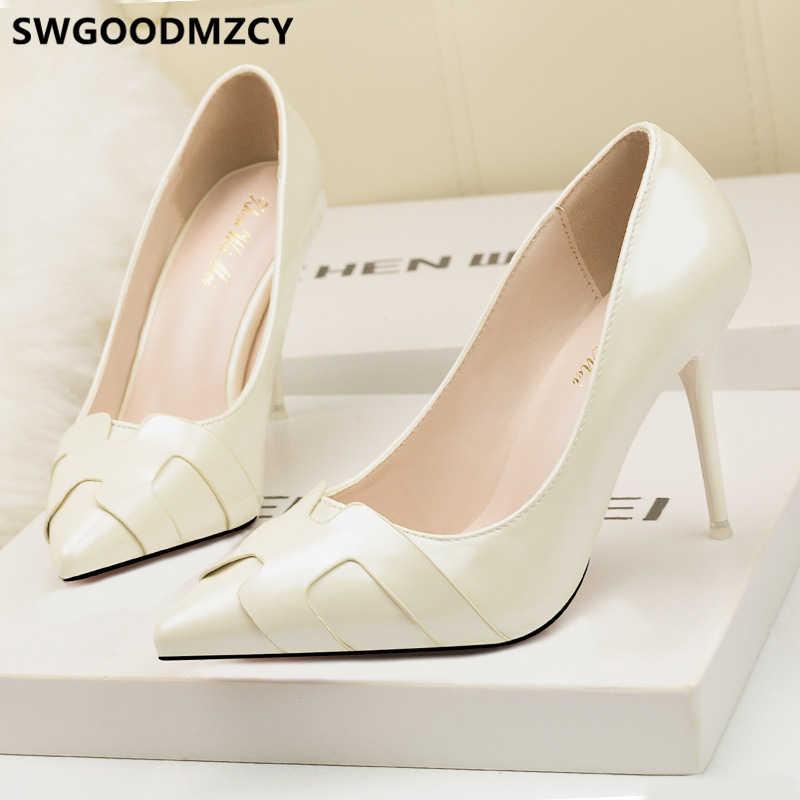 Scarpe di marca delle donne di lusso 2019 nero tacchi alti scarpe eleganti per la donna estremo tacchi alti scarpe da sera fetish tacchi alti