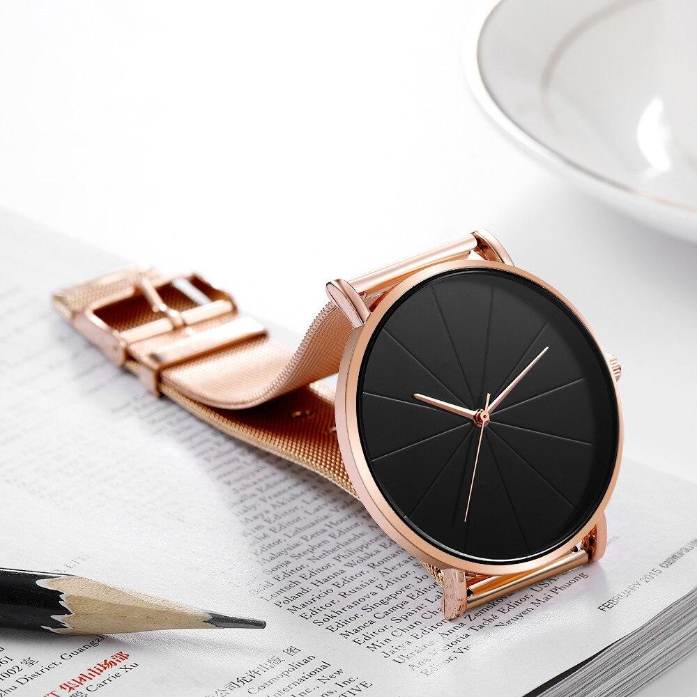 2020 Simple No Digital Mesh Belt Men's Watch Europe America Hot Selling Fashion Male Watch Waterproof Charm Quartz Wrist Clock