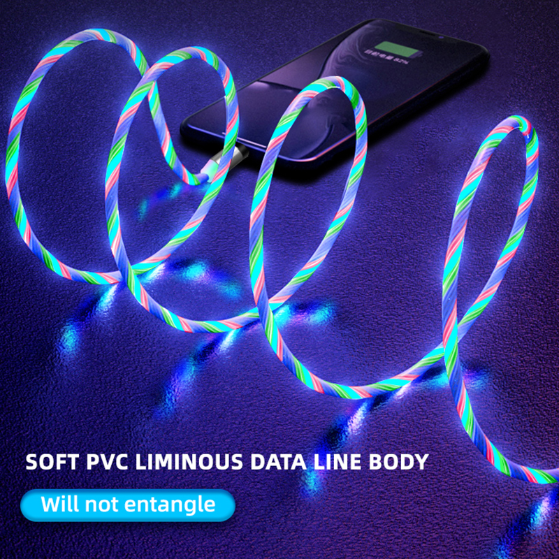 Glow LED Fast Magnetic USB charger for both iphones and Androids  5