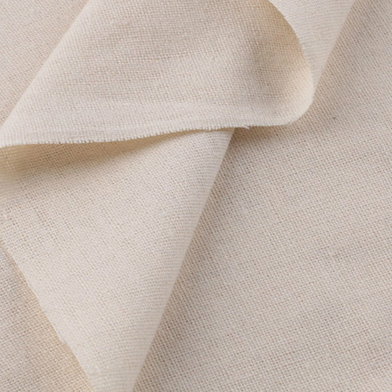 Linen Cotton Fabric Organic Material Pure Natural Flax Fabric Eco DIY Clothes