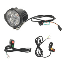 Electric Scooter Front Light with horn light button ECO/TURBO Single/Dual Horn Light Button wires цена 2017