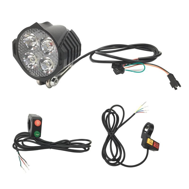 Dianteira do Trotinette Elétrico com Botão de Luz do Chifre Duplos do Botão de Luz do Chifre Turbo Único Fios Luz Eco –