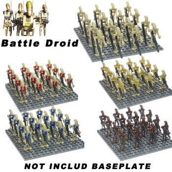 цена на 16PCS/LOT Super Star Wars K-2SO Battle Droid Combat Robot Building Blocks Bricks Gift Toys For Children