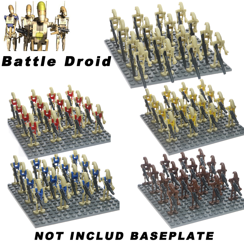 16PCS/LOT Super Star Wars K-2SO Battle Droid Combat Robot Building Blocks Bricks Gift Toys For Children image