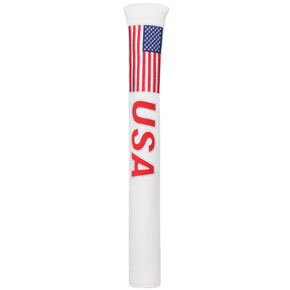 USA Liberty Leather Alignment Stick Headcover Cover American Flag Hold 2 Sticks