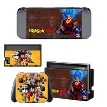 Dragon Ball Nintendoswitch Skin vinyl Sticker Decal Cover for Nintendo Switch Full Set Faceplate Stickers Console Joy-Con Dock