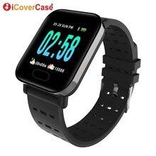 Para xiaomi redmi nota 4 4x 5 6 7 a k20 pro saúde monitoramento pulseira de fitness pressão arterial mensagem tempo relógio inteligente