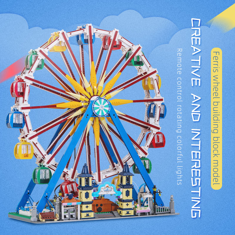 MOULD KING 11006 Creative Toys Compatible With 15012 App Motorized Ferris Wheel Building Blocks