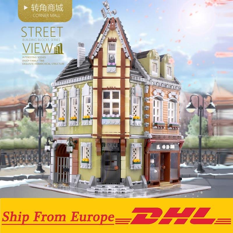 DIY Mini City Funfair Park Shop Store Restaurant Toy Building Blocks Brick Gift