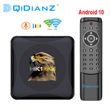 Tv box hk1 rbox r1 mini, reprodutor multimídia com android 10, rockchip rk3318, 1080p, 4k, google play, youtube, hk1