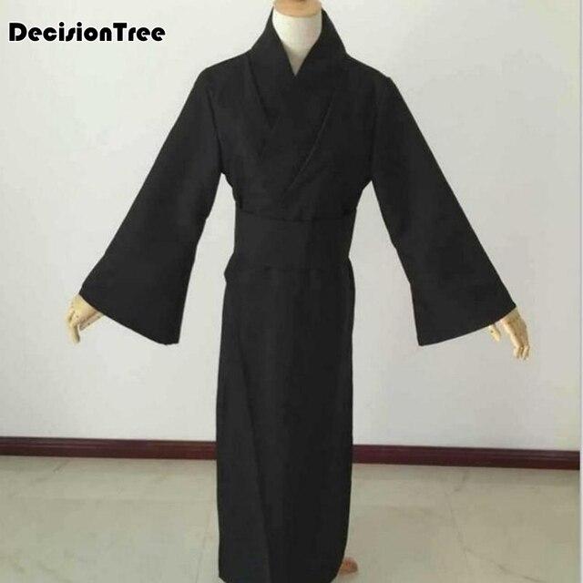 2020 styl japoński mężczyźni klasyczny czarny samuraj ubrania kostium cosplay na halloween tradycyjny yukata haori wojownik kimono z obi