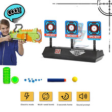 Автоматический сброс интеллигентая(ый) светильник звуковой эффект подсчета очков игрушечная цель электронные цифровые мишень для Nerf бластер пистолет игрушки дропшиппинг