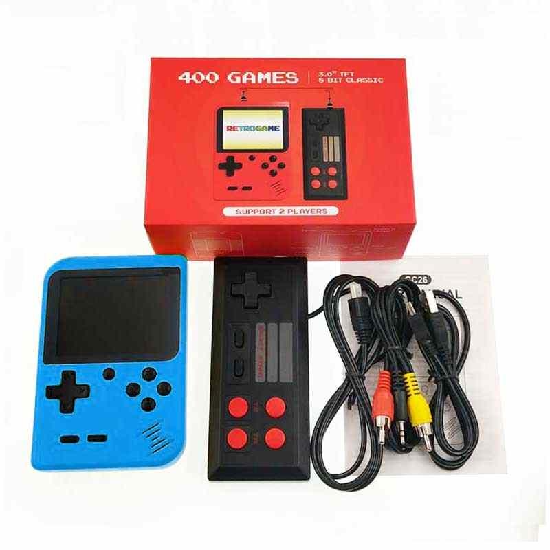 Mini consola de videojuegos de 2019, reproductor de juegos de mano Retro con bolsillo de 8 bits, integrado en 400 para juegos clásicos nostálgicos para niños