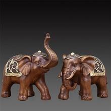 Sculpture Couple Elephant Statue Resin Home Decor Statues Animal Nordic Figurine Decoration Home Decoration Accessories Modern