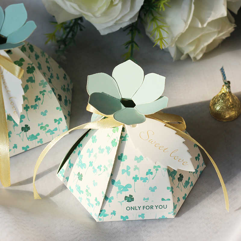 2020 NEW Multi Hexagon Flowers Wedding Party Paper Favour Candy Sweet Gift Boxes