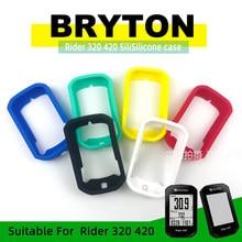 Bryton rider 420 rider 320 caso bicicleta computador capa de silicone dos desenhos animados borracha protetora caso + filme hd (para bryton420)