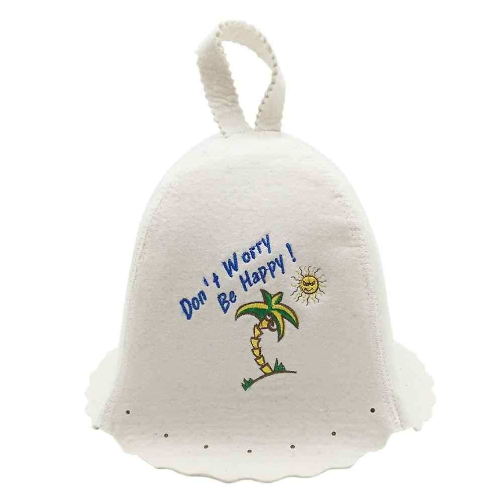 Sauna Şapka Keçe Sauna dokulu şapka Için Sauna duşakabin Kap Banyo Kafa Koruma Kadın Çocuk Kapşonlu Saç Koruma