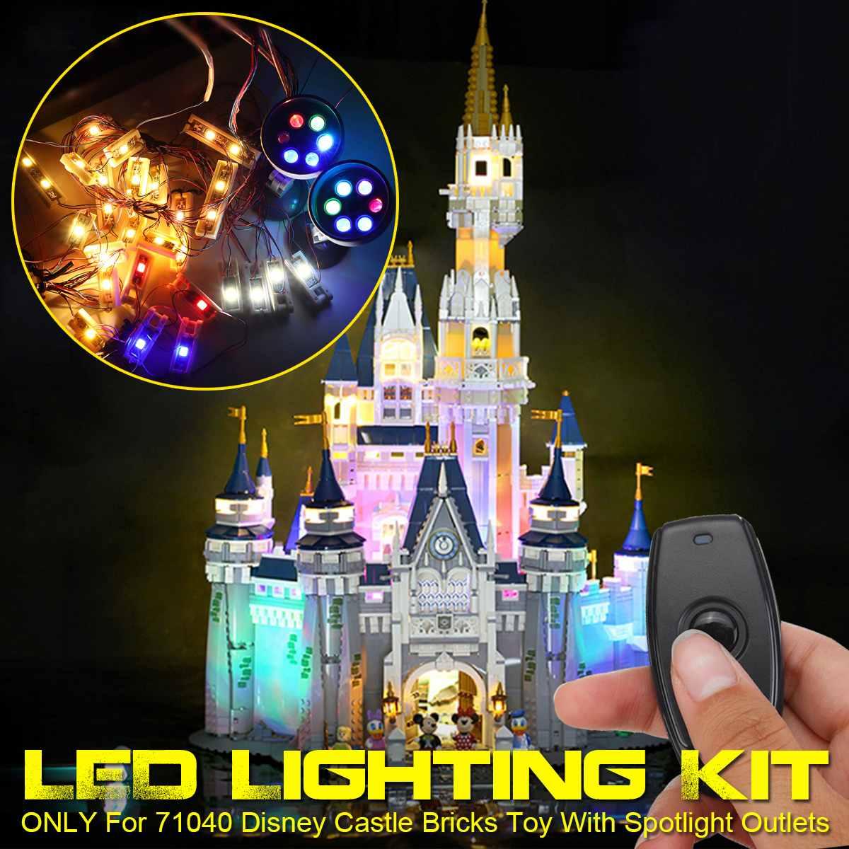 LED Lighting Kit For 71040 For Disney Castle Building Blocks Bricks (Only Lighting Set Included) With Remote Control Outlet