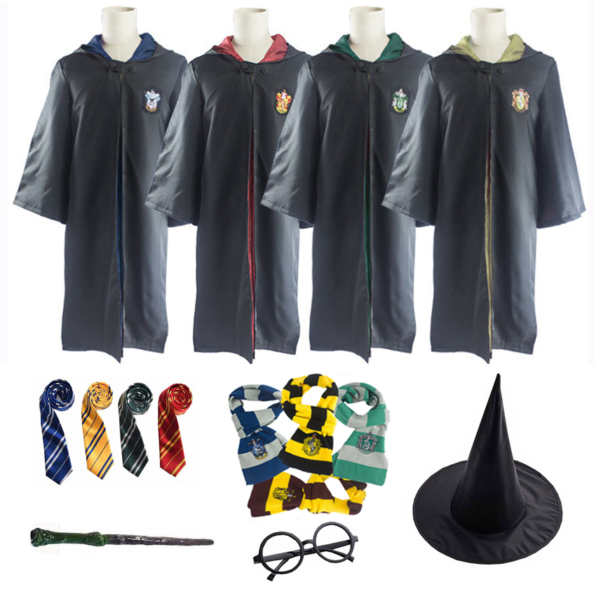 Childrens Adults Harry Potter Fancy Dress Costume Glasses Wand Scarf Tie
