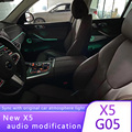 For bmw new x5 G05 center console door a-pillar horn upgrade with original atmosphere light car replacement modification