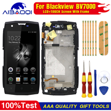 New Touch Screen LCD Display For Blackview BV7000 BV7000 Pro Digitizer Assembly With Frame Replacement Parts+Disassemble Tool