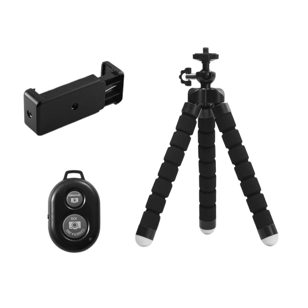 Mini Flexible Sponge Octopus Tripod for Samsung Huawei Mobile Phone Smartphone Tripod for 8 7 5 Camera