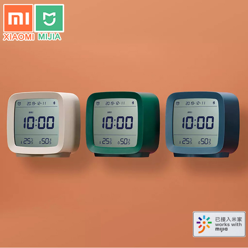 Xiaomi Cleargrass Bluetooth Alarm Clock Temperature Humidity Display LCD Screen Adjustable Nightlight With Mijia APP Smart Home image