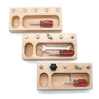 Juguetes Educativos Montessori de madera para niños, juego de tornillos de 3 años para preescolar, juguete Montessori para Navidad