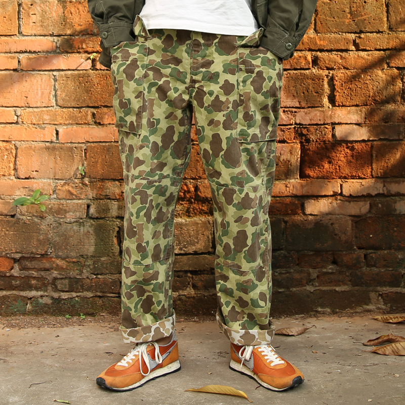10 Oz US Military Style Camouflage Cargo Pants Mens Cotton Vintage Casual M1942 Fatigue Uniform Pants