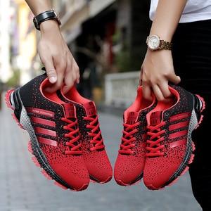 Image 2 - الرجال أحذية مفلكنة الرجال الصيف عادية للجنسين خفيفة الوزن تنفس شبكة موضة الذكور المشي حذاء رياضة Size35 47 كبير