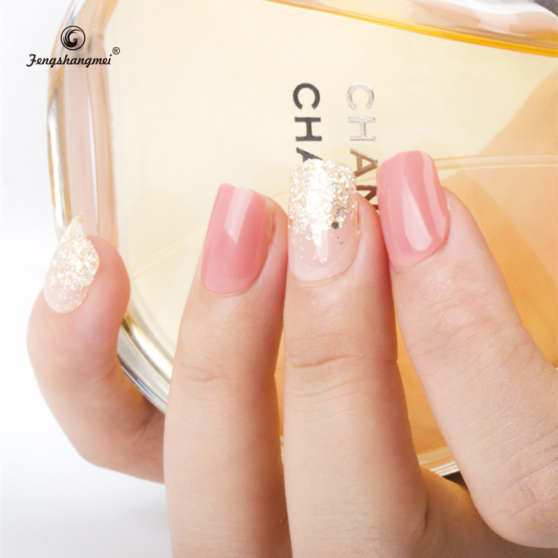 XC19 Nail Sticker Wear Manicure Set Fake Nails Soft Screen Protector Removable Nail Tip Finished Product 24 PCs Medical Use UV P