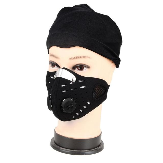 Hot Sale Mask Cycling Dust Mesh Mask Activated Carbon Filter Dust Odor Mask Anti-fog Electric Mask Face Dust Mask 1
