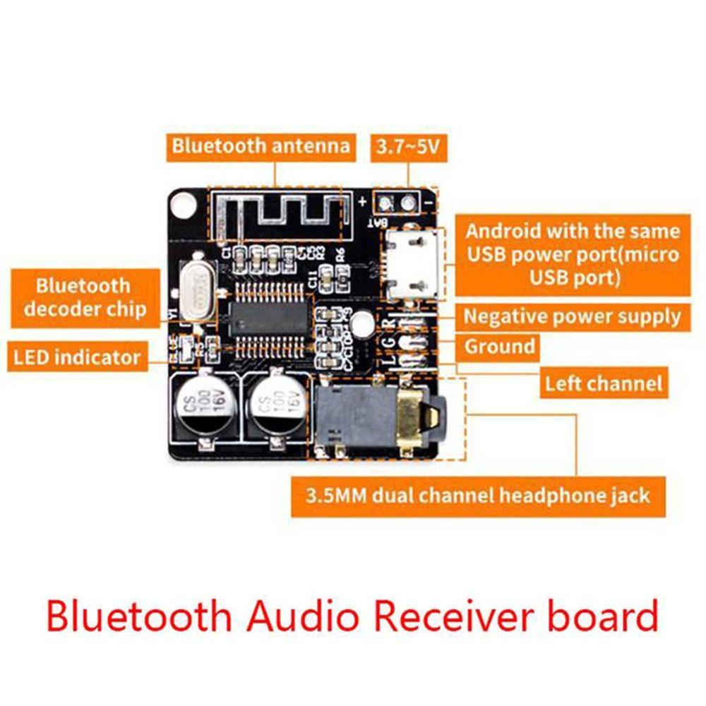 1Pc Bluetooth Audio Receiver Board Bluetooth 5.0 Mp3 Lossless Decoder Board Wireless Stereo Music Module