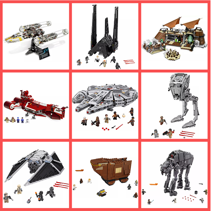 IN STOCK 05146 05007 05040 05070 05090 05130 05066 05049 Star Wars Sandcrawler Jawa Building Blocks Toys Compatible With 75220