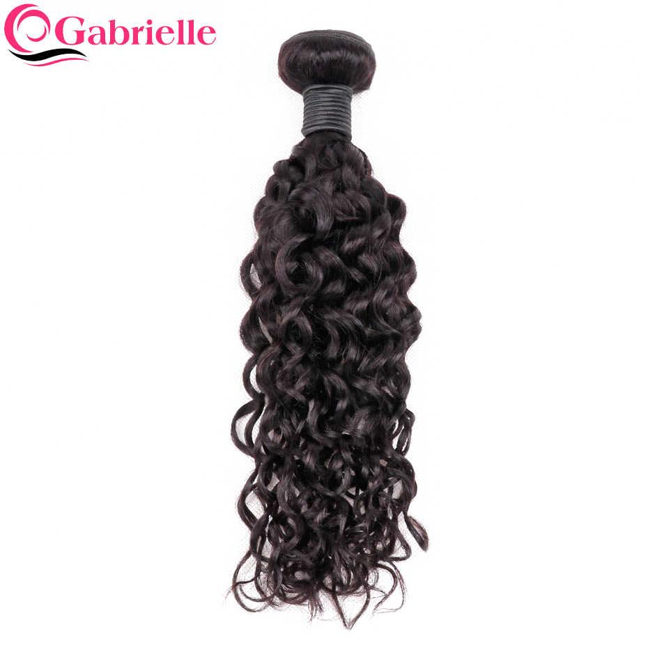 Gabrielle бразильские волнистые волосы пучки 1 шт. только натуральный цвет 100% не Реми человеческие волосы Расширения 8-24 дюймов
