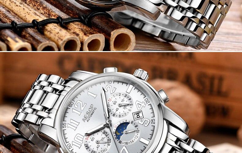 H81ee7a9ee73b42bfaacc7040d3ddc5ddW AESOP Luminous Automatic Mechanical Watch Men Luxury Brand Business Waterproof Stainless Steel Male Clock Relogio Masculino 2019