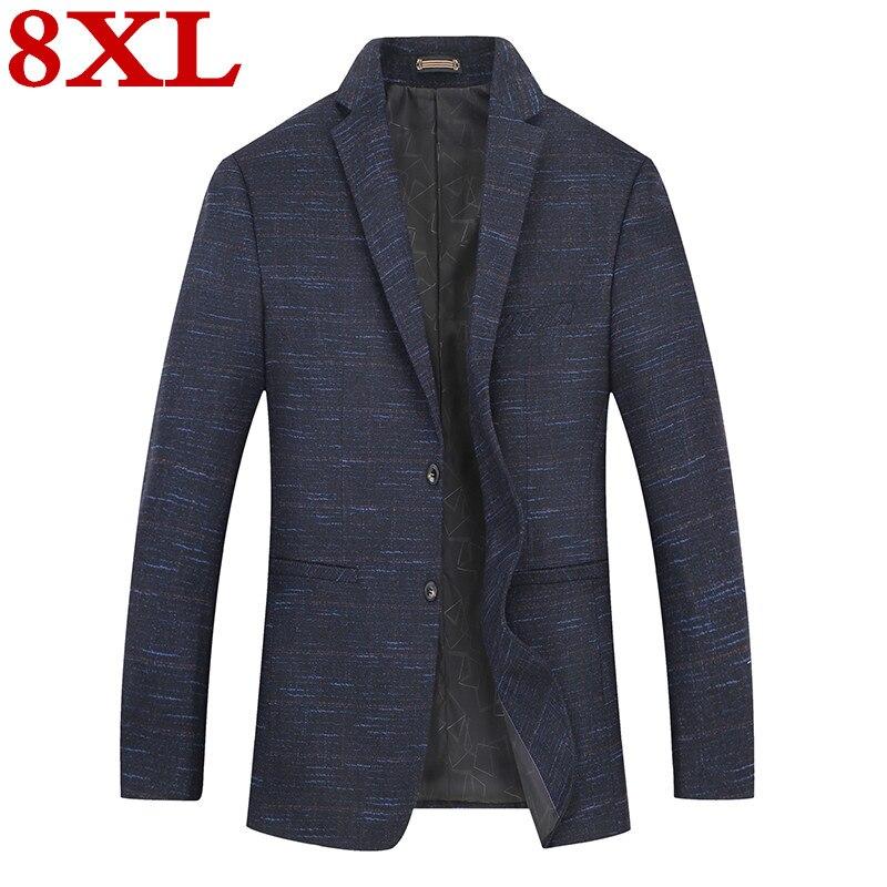 New Plus Size  8XL 7XL 6XL Mens  Fashion Cotton Blazer Suit Jacket Male Blazers Mens  Business Casual Coat