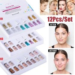 Ampola facial booster clareamento acne tratamento de cura meso branco impulsionador ampola soro starter kit bb creme