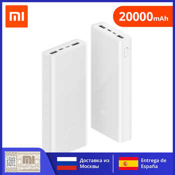Xiaomi Power Bank 3 PLM18ZM 20000mAh 18W Zwei-weg Quick Charge Typ-C Micro Eingang Power bank für iPhone 11 Pro XR X für Samsung
