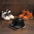 Детские Ботинки Martin для мальчиков и девочек; Мягкие ботинки с подошвой из коровьей кожи; Детские ботинки с боковой молнией; Теплая обувь из х...
