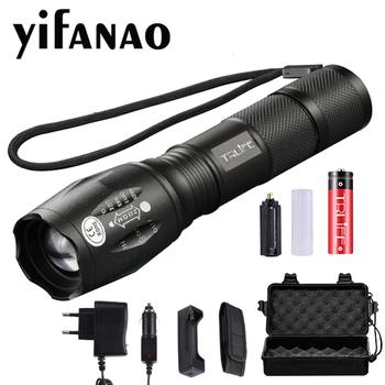 XP-L-V6 L2 LED latarka taktyczna latarka LED latarka LED z zoomem wodoodporna latarka dla AAA 18650 akumulator tanie i dobre opinie yifanao 5-8 plików Aluminium Wysoka średnim niskie Odporny na wstrząsy Samoobrona Twarde Światło Regulowany FL087 Inne