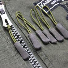 10 pçs/set EDC Camping Saco Zipper Puxa Substituição Mochila Roupas Zip Deslizante Puxador de Cabo Equipamentos de Acampamento Ao Ar Livre Kit de Viagem