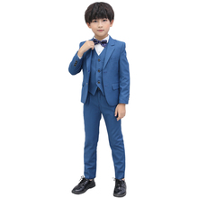 3-16Y Boys Formal Blazer Set Kids Jacket Vest Pants Suit Set