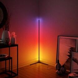 Nordic moderno e minimalista led linha luzes sinfonia rgb parede canto lâmpada de assoalho quarto atmosfera escurecimento luz